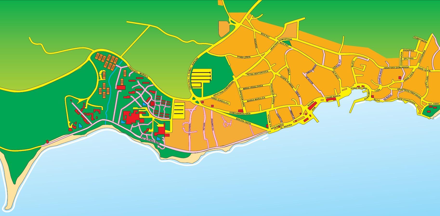 kart over brac Brac, kroatia kart   Kart over brac, kroatia (Sør Europa   Europa) kart over brac